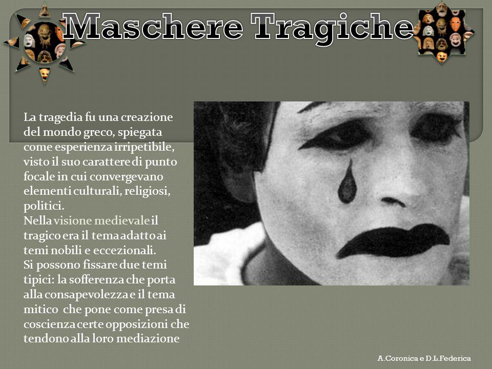 La tragedia fu una creazione del mondo greco, spiegata come esperienza irripetibile, visto il suo carattere di punto focale in cui convergevano elemen