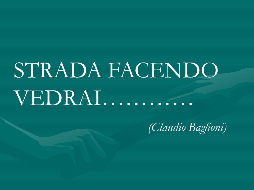 STRADA FACENDO VEDRAI………… (Claudio Baglioni)