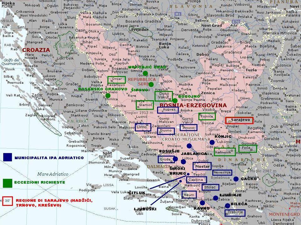 Fonte: Commission Regulation (EC) No 718/2007 del 12/06/2007 Il Programma di Cooperazione Adriatica Transfrontaliera (2007 – 2013) è riferibile alla seconda componente dellIPA.