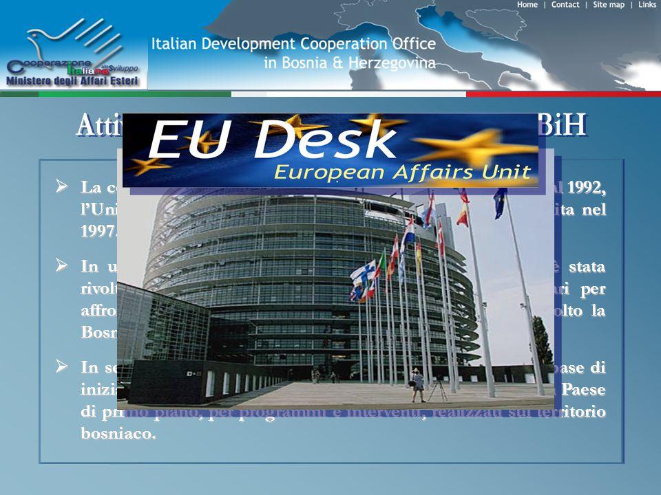 LUnità di Coordinamento Progetti Finanziati dalla Commissione Europea (Desk UE) è stata costituita nellottobre del 2006.