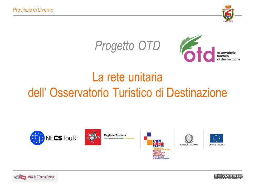 Progetto OTD La rete unitaria dell Osservatorio Turistico di Destinazione Provincia di Livorno