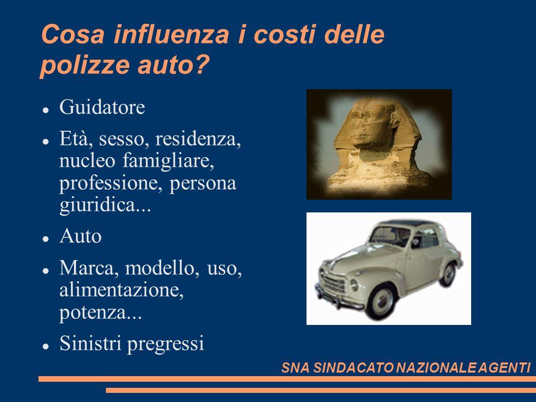 Cosa influenza i costi delle polizze auto? Guidatore Età, sesso, residenza, nucleo famigliare, professione, persona giuridica... Auto Marca, modello,