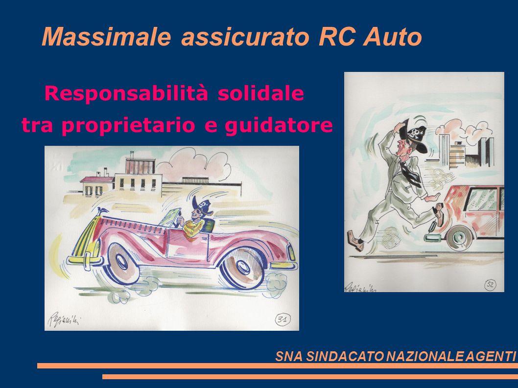 Massimale assicurato RC Auto Responsabilità solidale tra proprietario e guidatore SNA SINDACATO NAZIONALE AGENTI