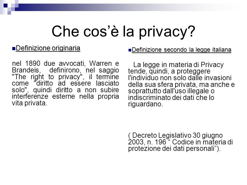 Che cosè la privacy.