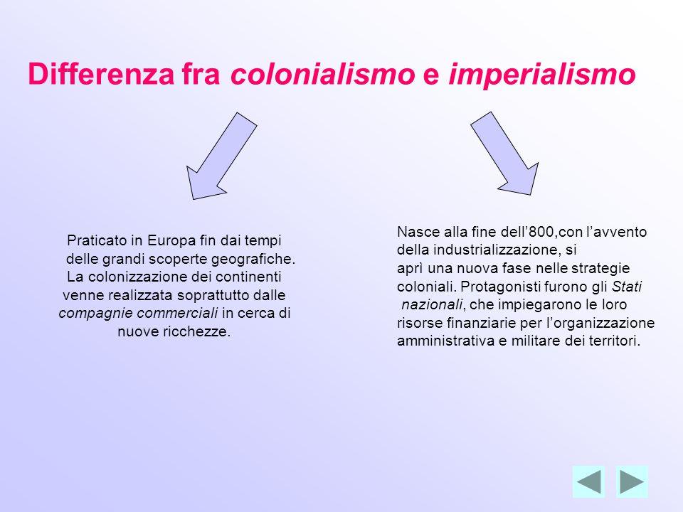Letà dell Imperialismo Tra il 1870 e gli inizi del Novecento si verificò fra i paesi europei una nuova corsa alle colonie.