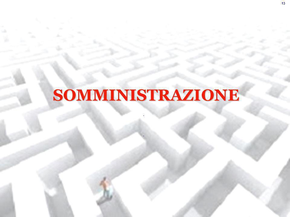 SOMMINISTRAZIONE 13