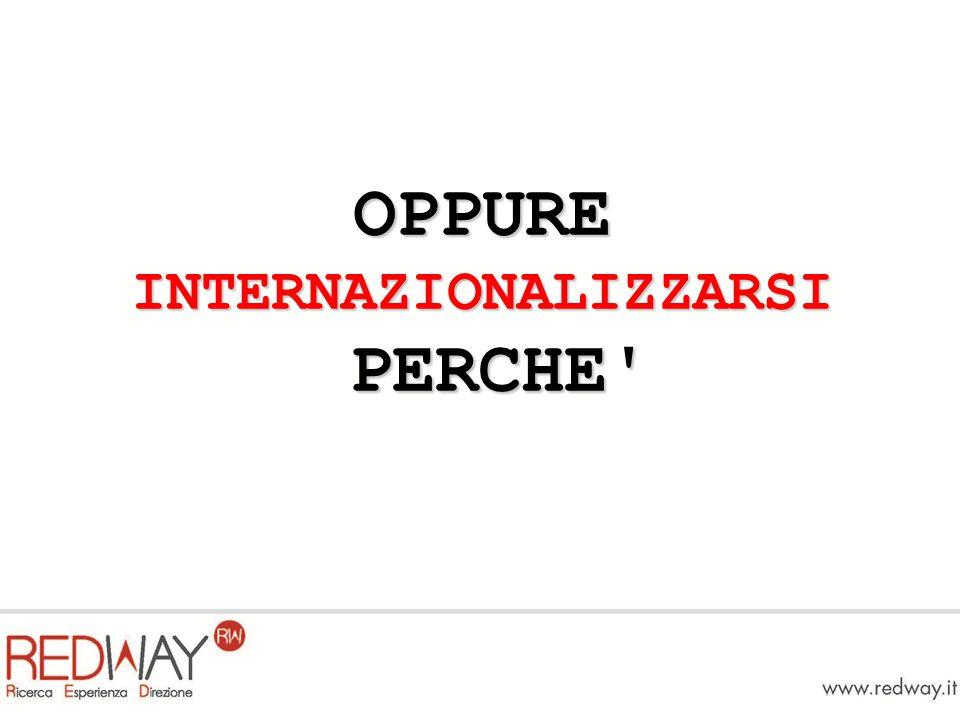 OPPURE INTERNAZIONALIZZARSI PERCHE'