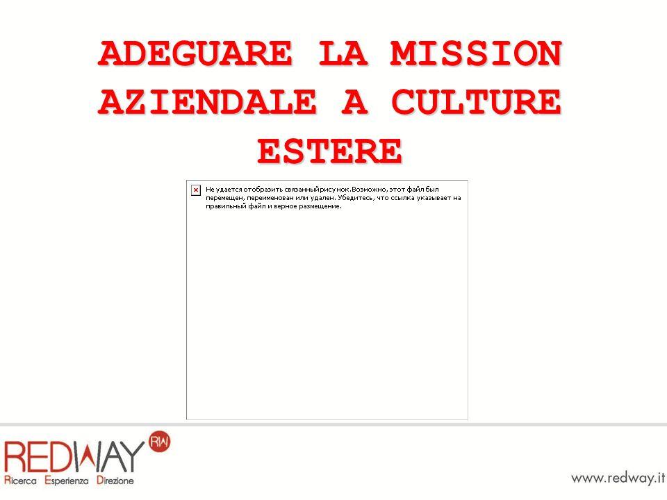 ADEGUARE LA MISSION AZIENDALE A CULTURE ESTERE
