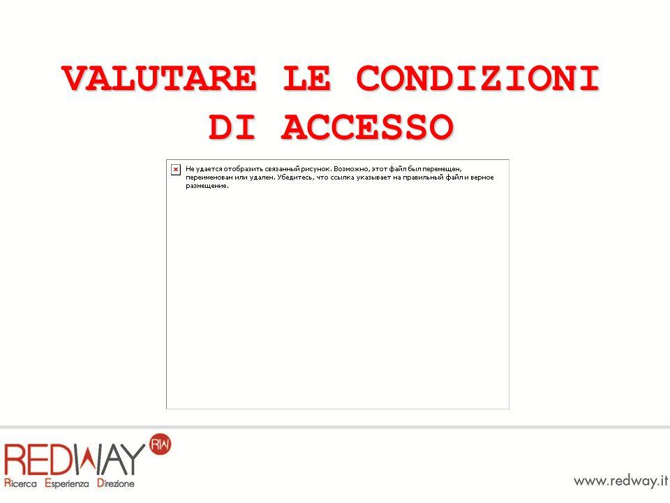 VALUTARE LE CONDIZIONI DI ACCESSO