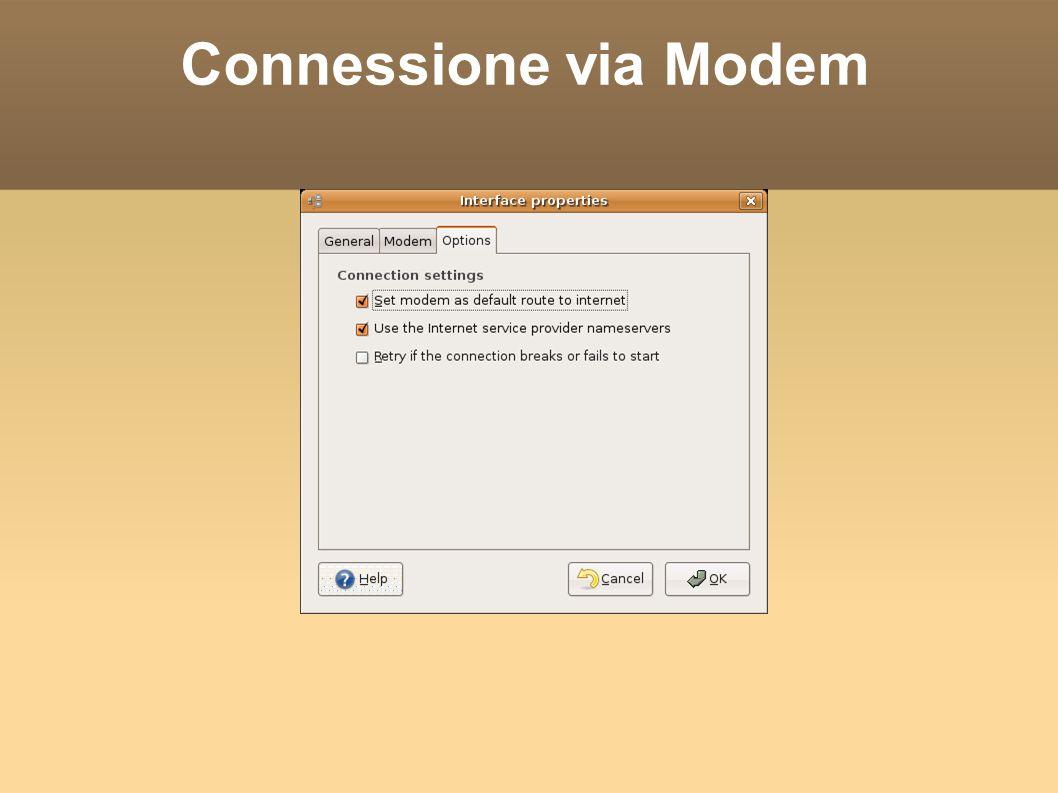 Wireless Cliccando col tasto destro sull icona del Network Manager possiamo abilitare e disabilitare le connessioni di rete.