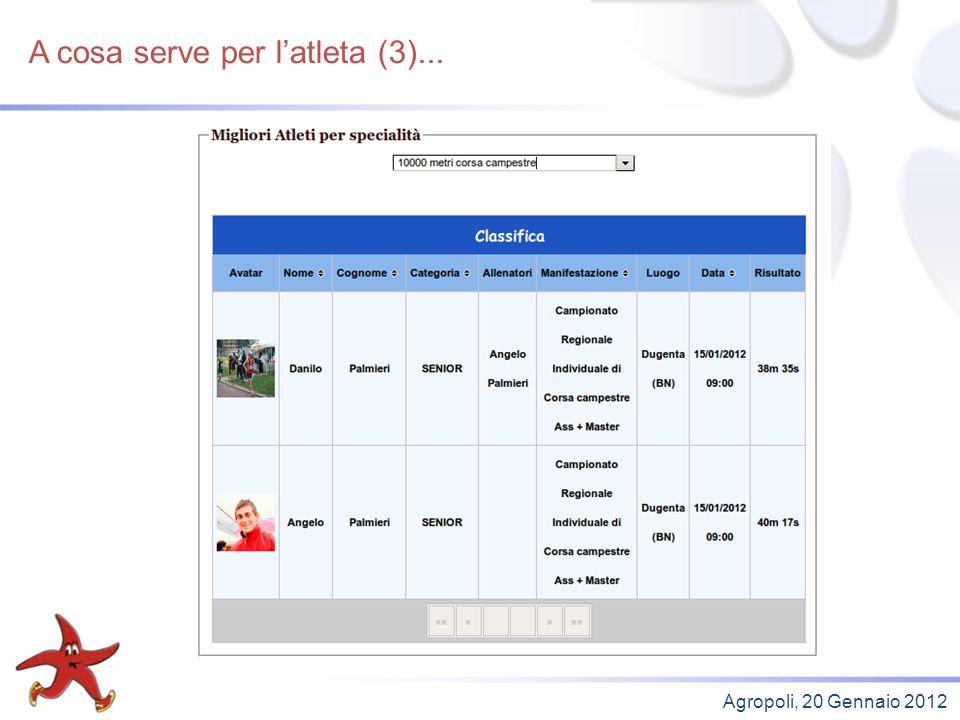 Obiettivi futuri Agropoli, 20 Gennaio 2012