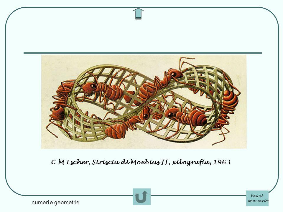 numeri e geometrie C.M.Escher, Striscia di Moebius II, xilografia, 1963 Vai al sommario