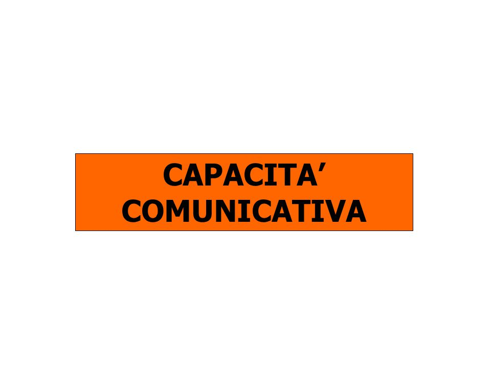 CAPACITA COMUNICATIVA