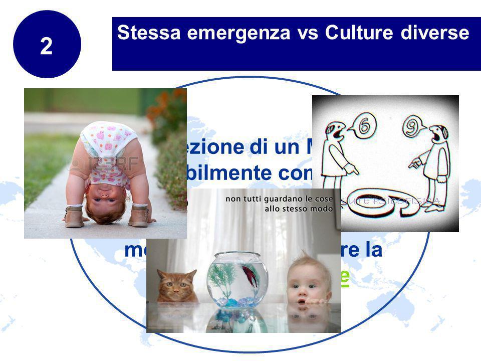 www.company.com Stessa emergenza vs Culture diverse 2 Percezione di un Mondo inevitabilmente complesso = Complesse e varie sono le modalità per esprimere la propria percezione