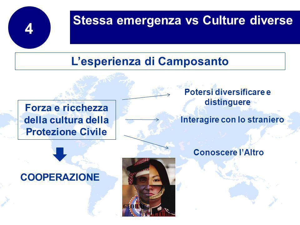www.company.com Stessa emergenza vs Culture diverse 4 Forza e ricchezza della cultura della Protezione Civile Potersi diversificare e distinguere Lesp