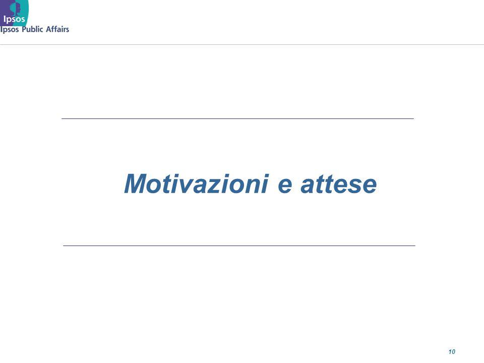 10 Motivazioni e attese