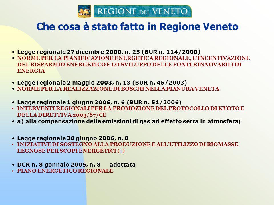 Legge regionale 1 giugno 2006, n. 6 (BUR n. 51/2006) INTERVENTI REGIONALI PER LA PROMOZIONE DEL PROTOCOLLO DI KYOTO E DELLA DIRETTIVA 2003/87/CE a) al