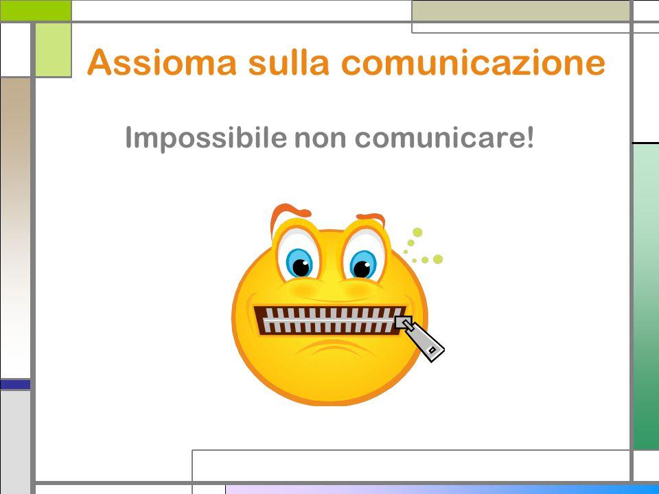 Assioma sulla comunicazione Impossibile non comunicare!