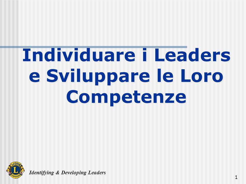 Identifying & Developing Leaders 32 Individuale e sviluppare le competenze dei leader