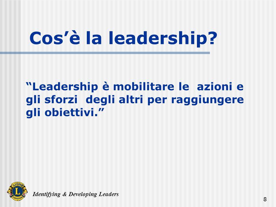 Identifying & Developing Leaders 29 Supporto Progetti Importanti Mentoring e Guida Riconoscimento Soddisfazione Personale