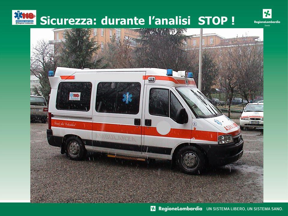 Sicurezza: durante lanalisi STOP !