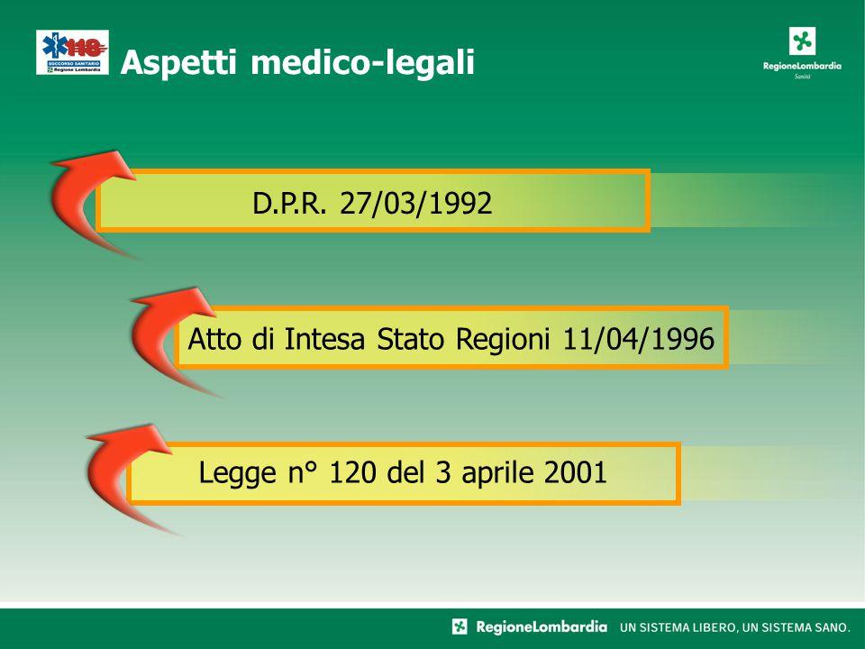 Aspetti medico-legali D.P.R.
