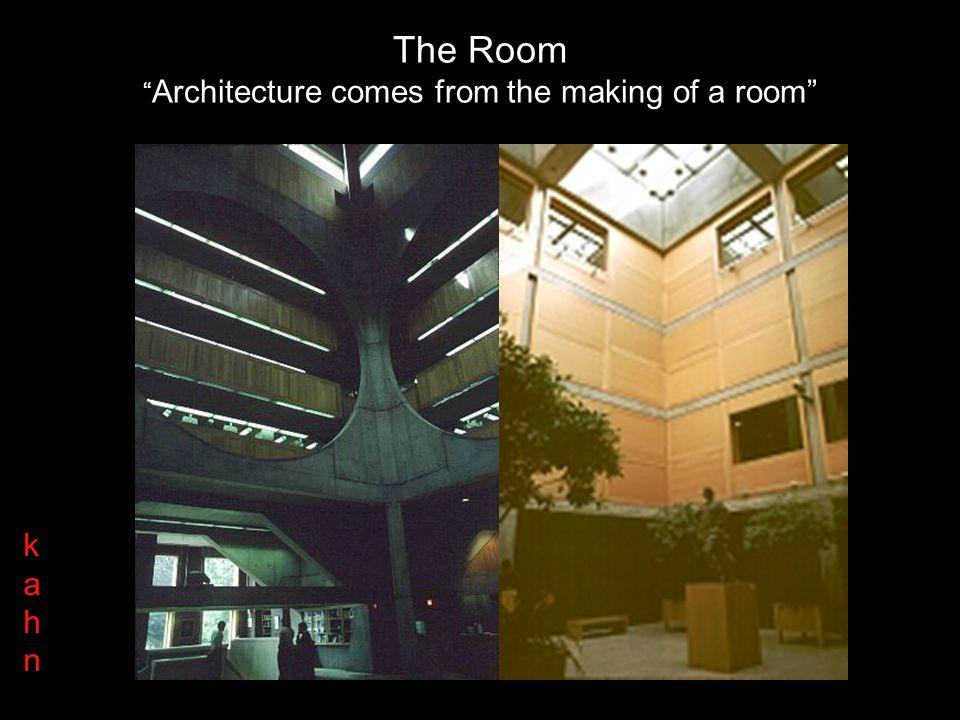 The Room Il progetto è una società di stanze kahnkahn La società di stanze è tenuta assieme dagli elementi di collegamento che possiedono caratteristi