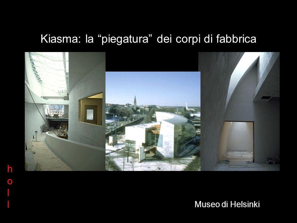Kiasma Spiroid La facciata come sezione Il paradigma di holl hollholl