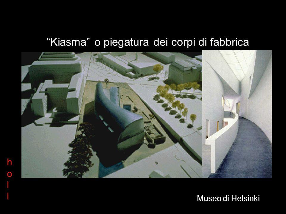 hollholl Museo di Helsinki Kiasma: la piegatura dei corpi di fabbrica