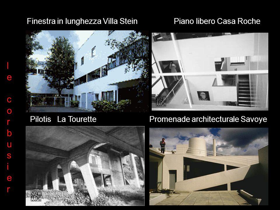 Le Corbusier: i cinque punti Plan libre Façade libre Pilotis Toit jardin Fenetre en longeur lecorbusierlecorbusier