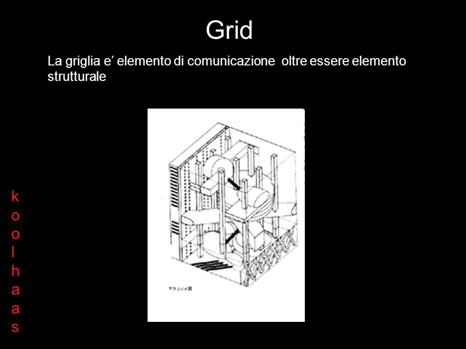 La griglia è l elemento di organizzazione tridimensionale dello stack Grid koolhaaskoolhaas