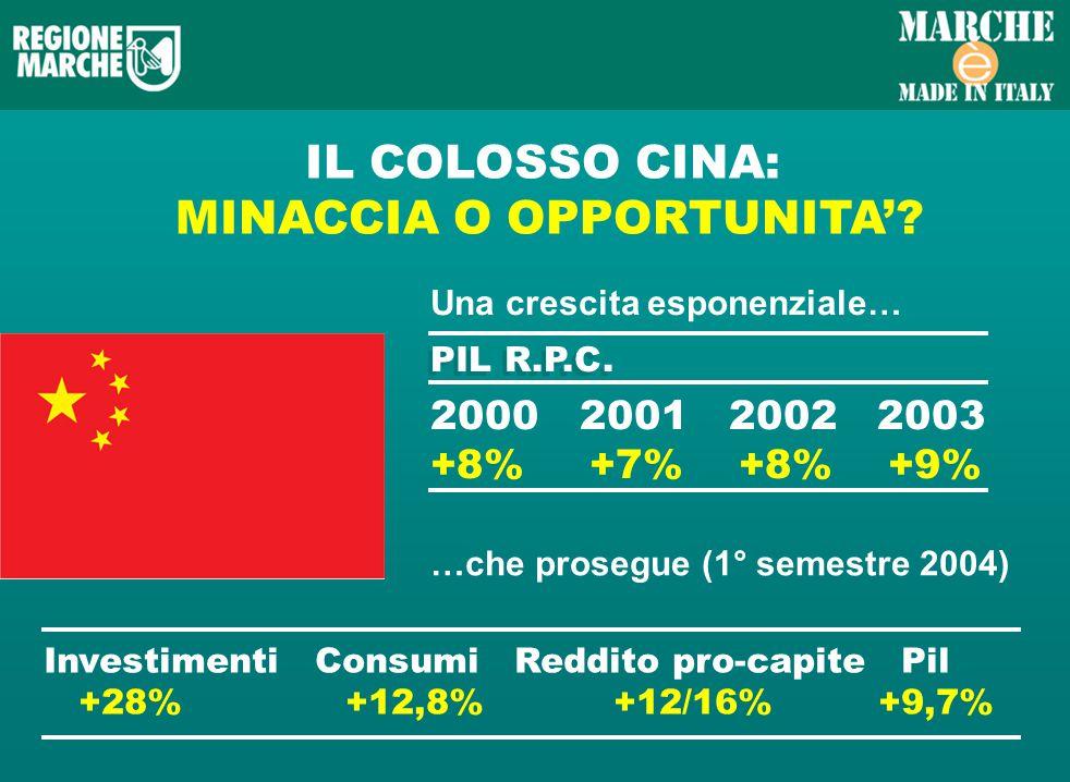 IL COLOSSO CINA: MINACCIA O OPPORTUNITA.