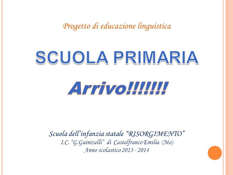 Progetto di educazione linguistica Scuola dellinfanzia statale RISORGIMENTO I.C. G.Guinizelli di Castelfranco Emilia (Mo) Anno scolastico 2013 - 2014