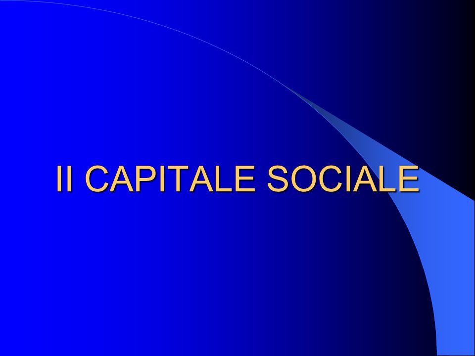 II CAPITALE SOCIALE