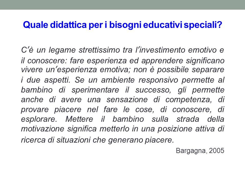 Quale didattica per i bisogni educativi speciali.