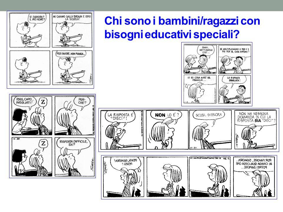Chi sono i bambini/ragazzi con bisogni educativi speciali?