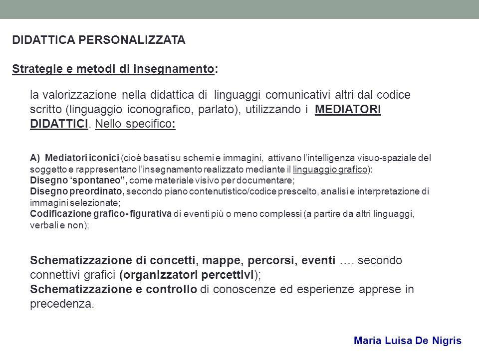 DIDATTICA PERSONALIZZATA Strategie e metodi di insegnamento: la valorizzazione nella didattica di linguaggi comunicativi altri dal codice scritto (lin