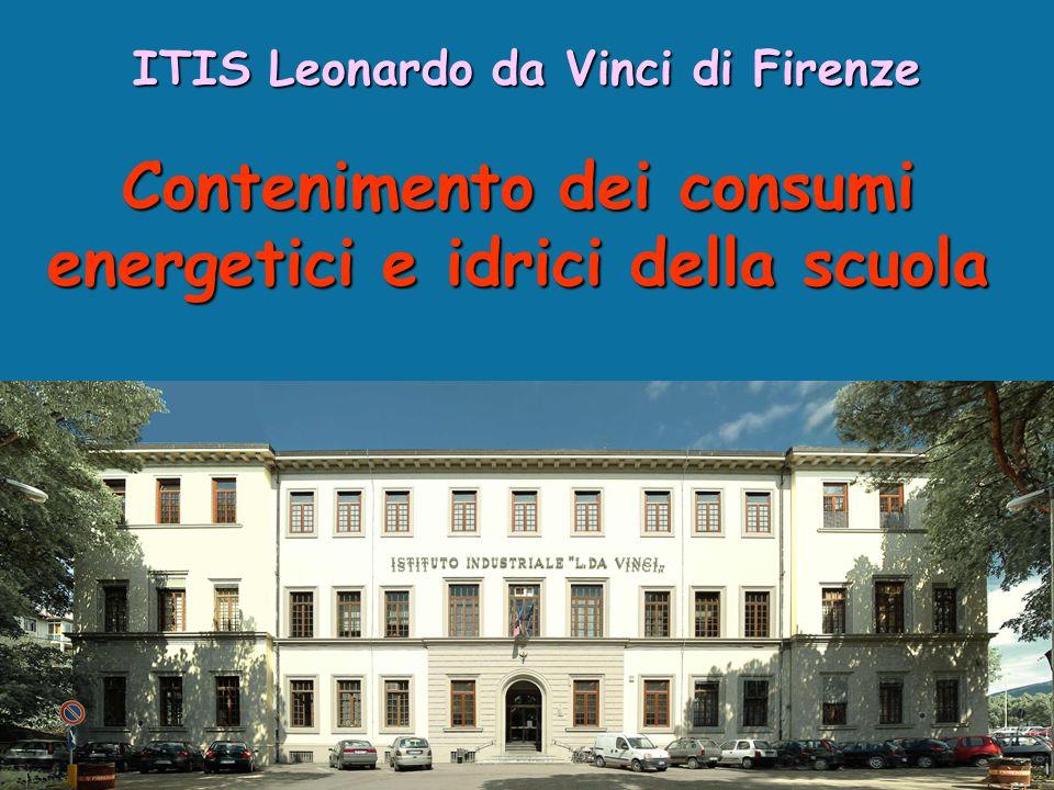 Contenimento dei consumi energetici e idrici della scuola ITIS Leonardo da Vinci di Firenze