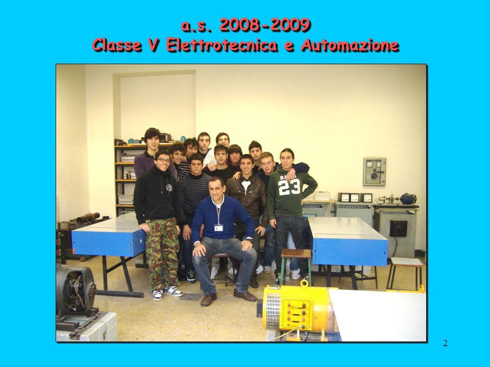 2 a.s. 2008-2009 Classe V Elettrotecnica e Automazione FOTO CLASSE