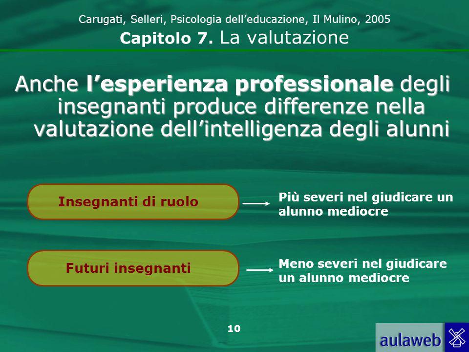 11 Carugati, Selleri, Psicologia delleducazione, Il Mulino, 2005 Capitolo 7.