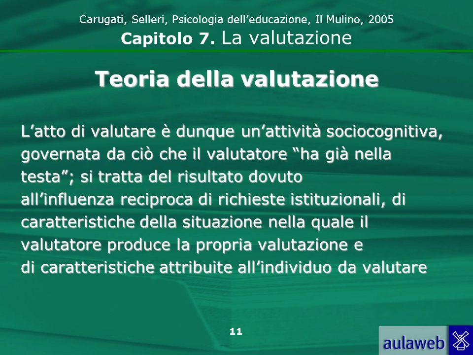 12 Carugati, Selleri, Psicologia delleducazione, Il Mulino, 2005 Capitolo 7.