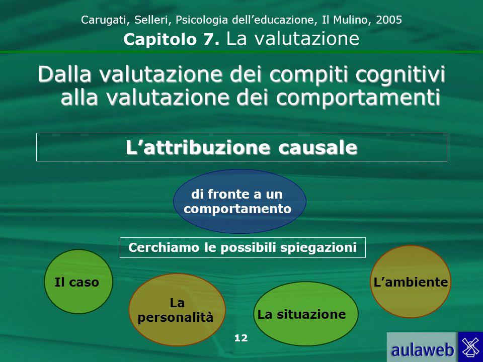 13 Carugati, Selleri, Psicologia delleducazione, Il Mulino, 2005 Capitolo 7.