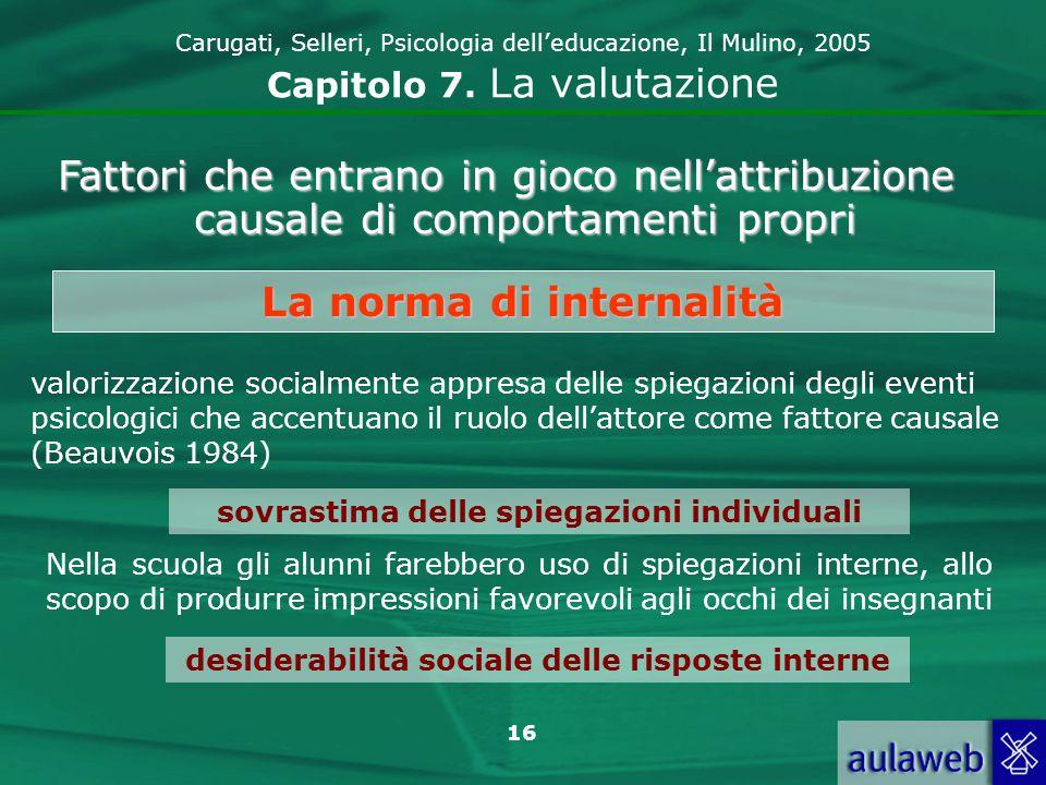 17 Carugati, Selleri, Psicologia delleducazione, Il Mulino, 2005 Capitolo 7.