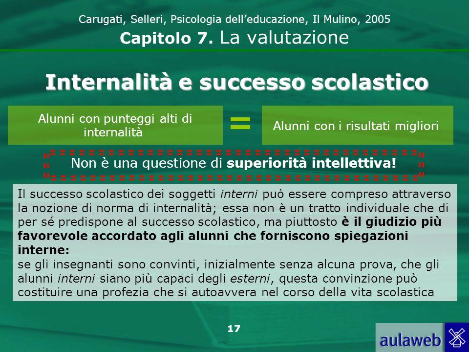 18 Carugati, Selleri, Psicologia delleducazione, Il Mulino, 2005 Capitolo 7.