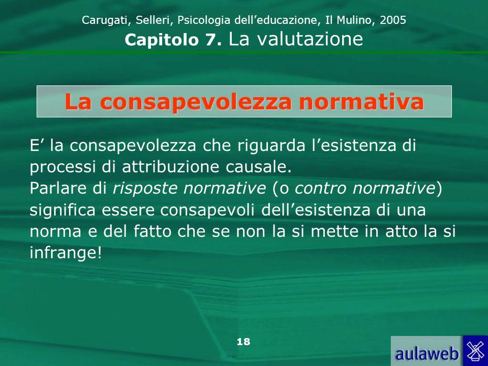 19 Carugati, Selleri, Psicologia delleducazione, Il Mulino, 2005 Capitolo 7.