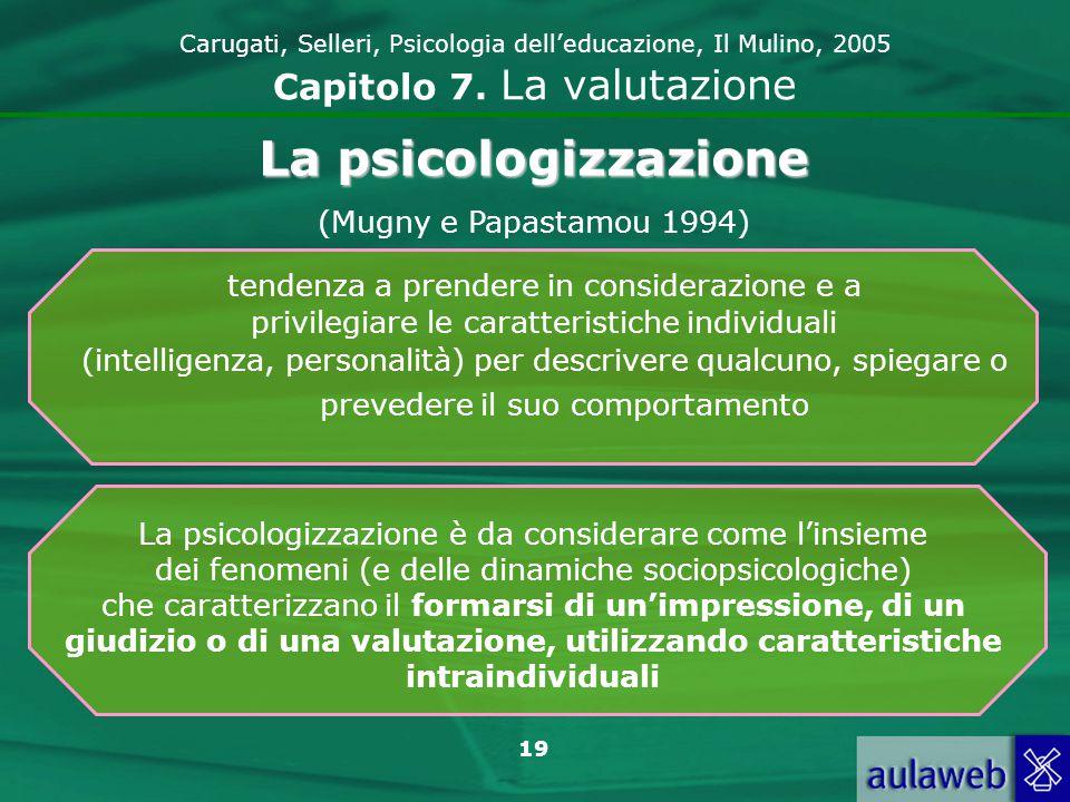 20 Carugati, Selleri, Psicologia delleducazione, Il Mulino, 2005 Capitolo 7.