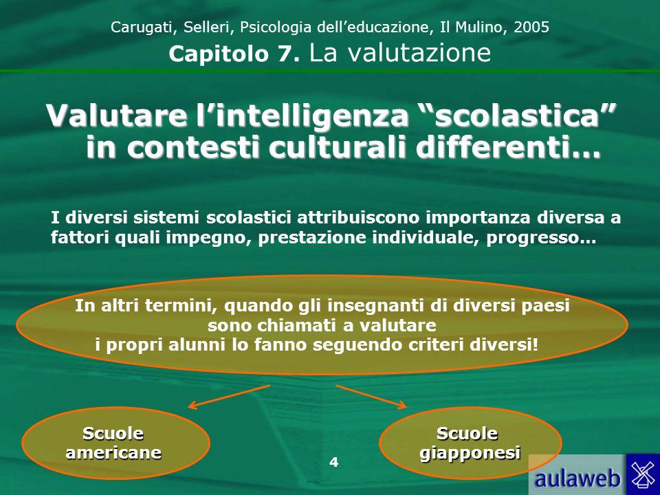 5 Carugati, Selleri, Psicologia delleducazione, Il Mulino, 2005 Capitolo 7.