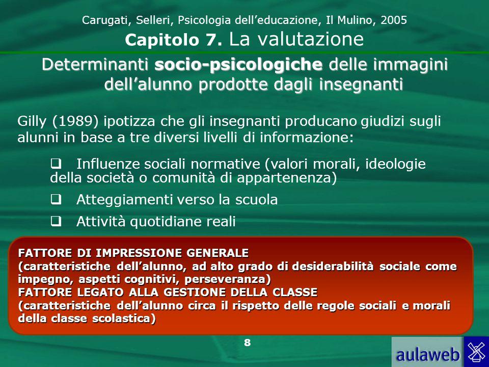 9 Carugati, Selleri, Psicologia delleducazione, Il Mulino, 2005 Capitolo 7.