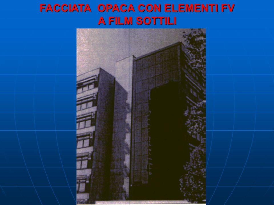 FACCIATA OPACA CON ELEMENTI FV A FILM SOTTILI