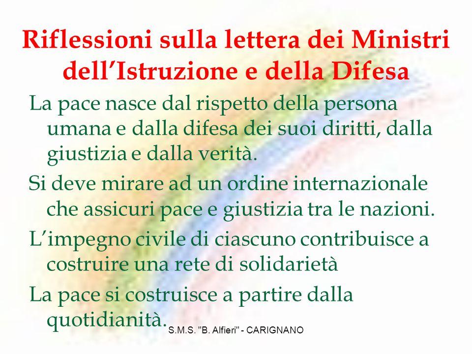 S.M.S. B. Alfieri - CARIGNANO LItalia nellO.N.U.: le missioni di pace Scopo dellO.N.U.